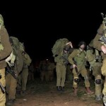 Israeli soldiers marching