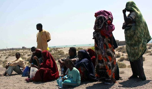 Ethiopian migrants in Yemen
