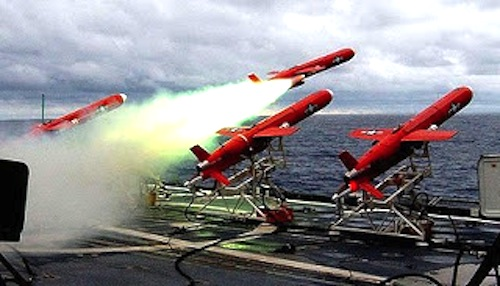 US drones being launched
