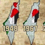 Map showing how Palestine has been usurped by the Jews between 1947 and 2012