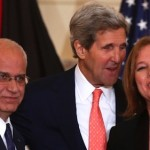 John Kerry, Saeb Erekat and Tzipi Livni