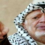 Yasser Arafat pointing his finger