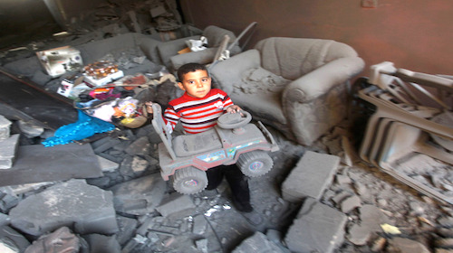 Gaza child – victim of Israeli war crimes