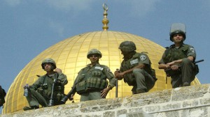 Israeli soldiers at Al-Aqsa