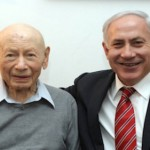 Binyamin Netanyahu and his father Benzion