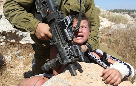 Palestinian boy at Nabi Saleh
