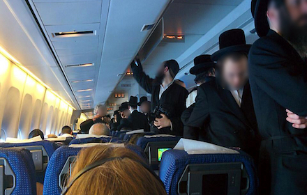 Jewish passengers on airliner
