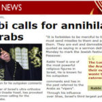 BBC headline: Rabbi Yosef calls for annihilation of Arabs