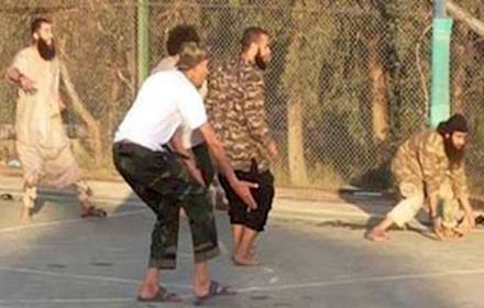 Islamist cutthroats playing football