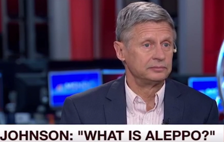 Gary Johnson asks What is Aleppo in interview on MSNBC